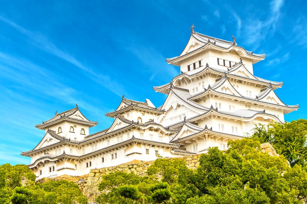 Himeji Castle in Kansai Kyoto Japan HDR Style High Dynamic Range