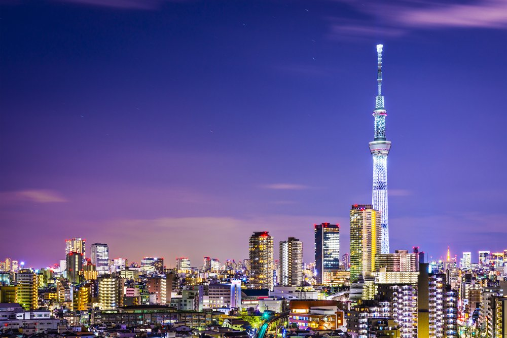 Tokyo cityscape with the Skytree