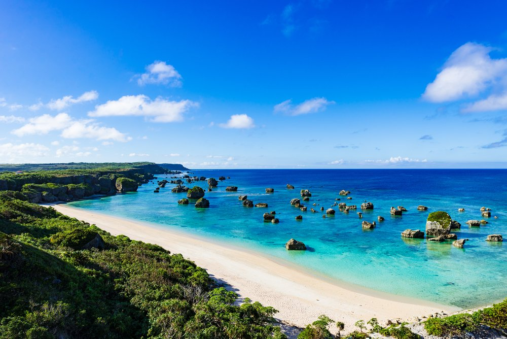 Sea, shore, seascape. Okinawa, Japan