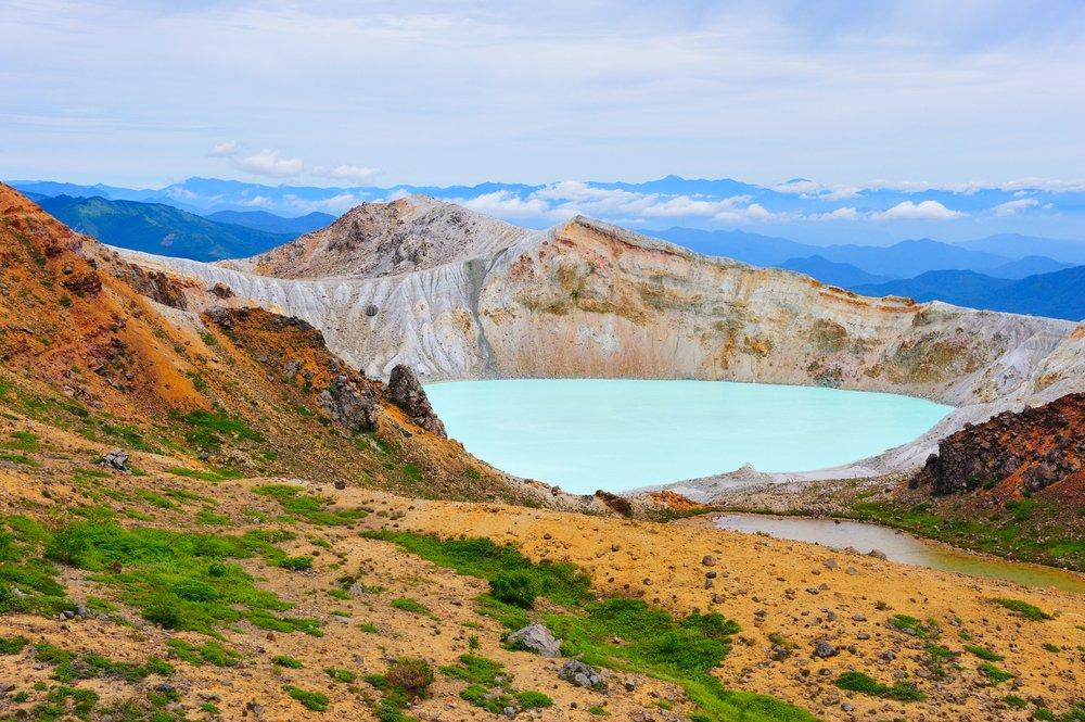Yugama Crater Lake at Mt. Shirane, Japan