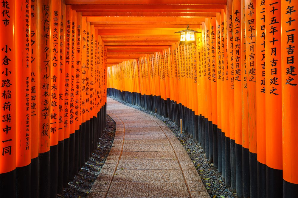 Torii gates in Fushimi Inari Shrine