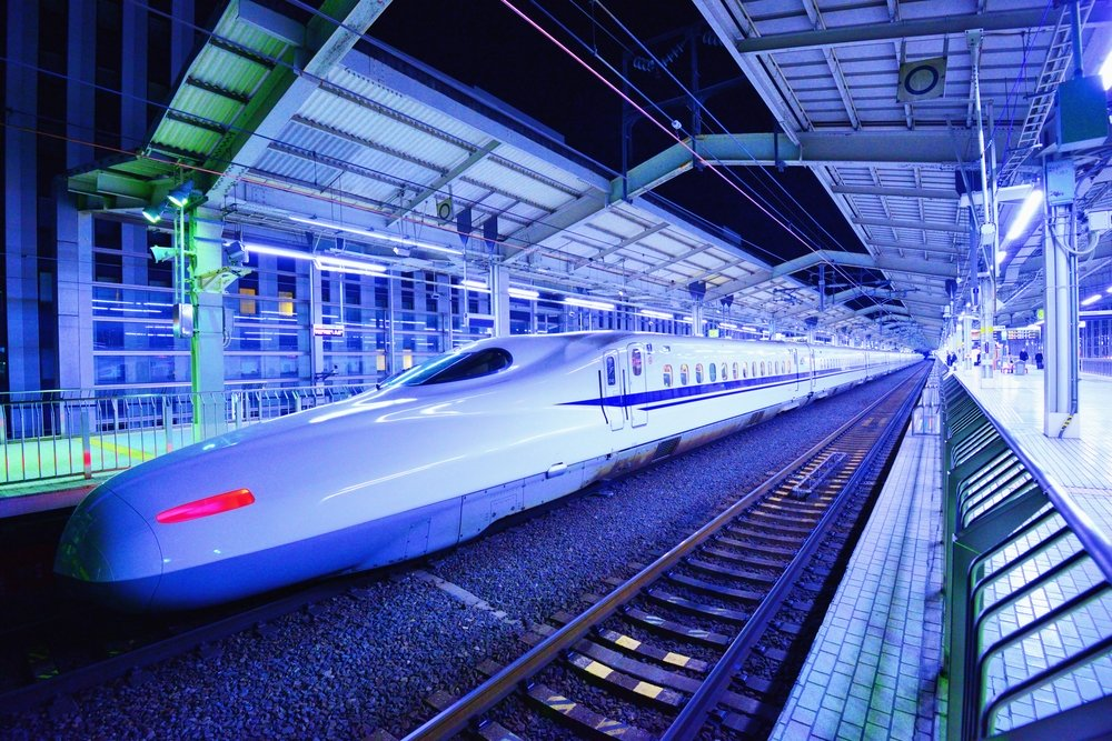 Japan's Bullet Train makes a brief stop