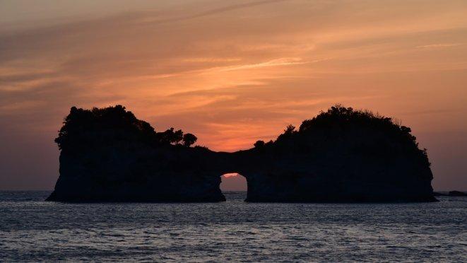 Sunset of Engetsu Island