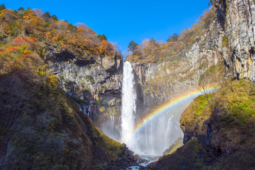 waterfalls in Japan. Kegon Falls at Nikko