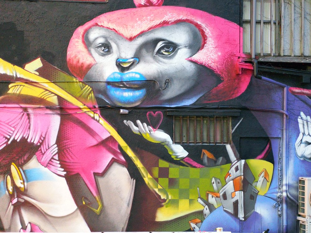 Artistic graffiti or street art in Shibuya and Ebisu area, downtown Tokyo -Takamex / Shutterstock.com